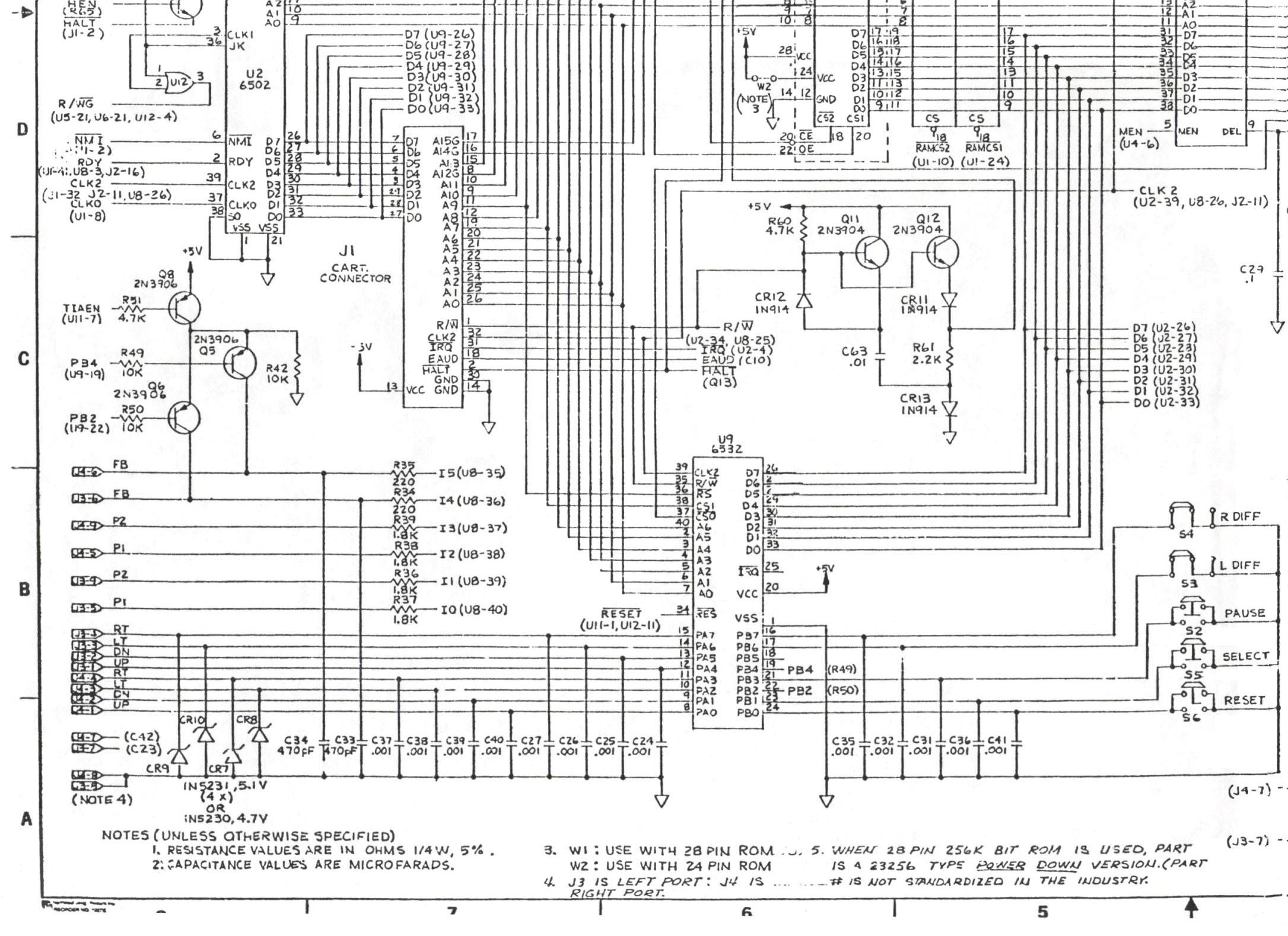 atari schematics rh atari7800 org Sega Genesis Atari 7800