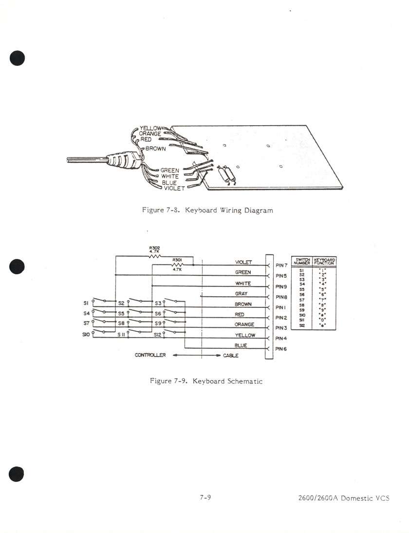 keypadschematic atari schematics Western Joystick Controller Wiring Diagram at nearapp.co